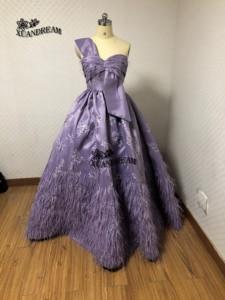Image 4 - XUANDREAM Real Photo bestidos de Gala vestido debutante curto Ball gown feathers พรหมชุดพิเศษชุด XD157