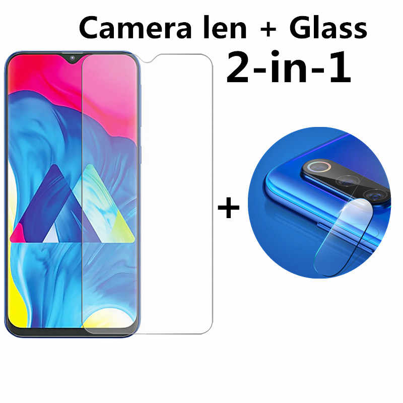 2 In 1 Full Tempered Glass For Samsung Galaxy A50 A40 A30 A20 A10 A70 A 70 50 30 20 10 Screen Protector Camera Lens Glass Film