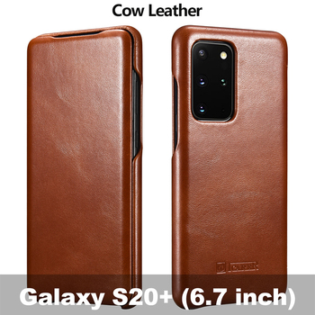 Genuine Leather Flip Case for Samsung Galaxy S20 ultra S10 S9 Note 8 Luxury Protective Phone Cover For Sumsung S20 Plus S10 S9 1