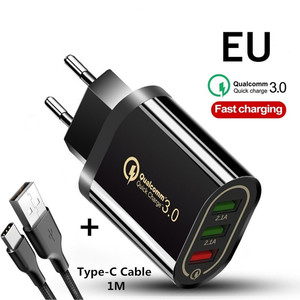 Quick Charger QC 3.0 3 Port US
