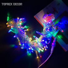Toprex 10m RGYB emitting christmas led string light garden chain ourdoor xmas decoration party lights