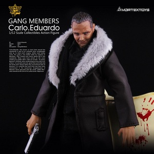 Image 2 - 1/12 Scale Carlo Eduardo Action Figure Model with Yellow/Blue/Red Sofa Collections Models