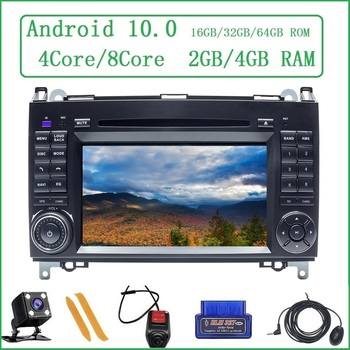 ZLTOOPAI Car Multimedia Player For Benz Sprinter Viano Vito B Class B200 B180 Android 10 GPS Navigation DVD Media Player Cam OBD