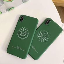 IMIDO Sun Flowers  For iphone 7 Case New Anti-fall Fashion Phone Soft Silicone 6/7/8/X /Xs/ Xsmax/Xr Cases