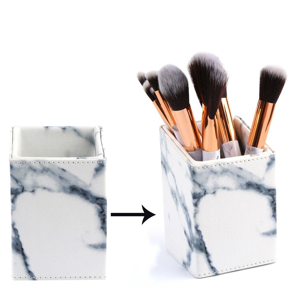 Hot MAANGE Fashion Marble Makeup Cosmetic Brush Cylinder Storage Barrel Bucket Holder Stand