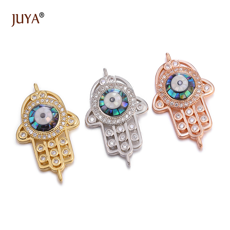 Shiny Zircon Crystal Jewellery Findings Connector Charms DIY Jewelery Components For Making Bracelet Handmade Accessories