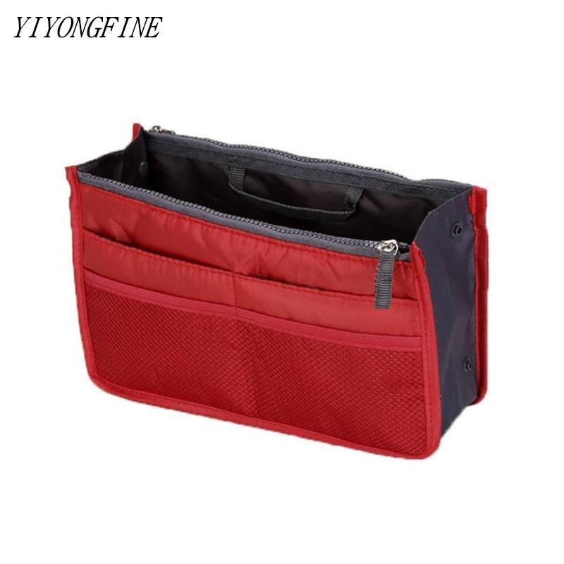 Tote Cosmetic Bag For Women Double Zipper Makeup Bag Toiletries Grooming Kit Large Nylon Travel Insert Organizer Handbag Purse