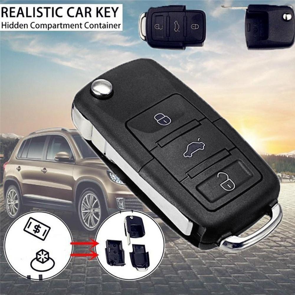 Автомобильный ключ с дистанционным управлением, раскладной ключ, чехол для отсека, брелок, Stash B5, скрытый корпус автомобиля, секретный диста...