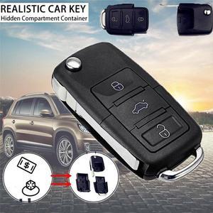 Coche de control remoto clave carcasa de llave abatible plegable caso para Volkswagen llavero compartimiento alijo B5 oculto de coche secreto remoto clave B2J8