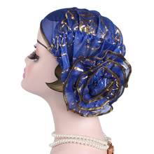 Bandana Headwrap Beanie Scarf Turban Head Fit Adult Wrap Cap Gift Fashion Large Flower Muslim Women Turban Hat Stretch Chemo Cap(China)