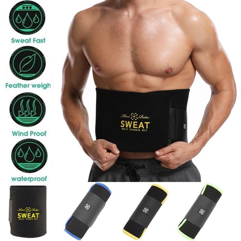 Men Waist Trimmer Weight Loss Wrap Sweat Sauna Slim Belt For Men And Women Neoprene Belly Fat Slimming Stomach Back Support Band