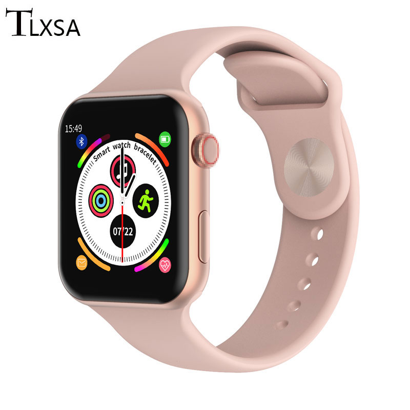 Fashion Smart Fitness Watch Lady Full Touch Screen Heart Rate Monitor Smart Clock Women Men Lovers SmartWatch PK B57 Android IOS