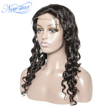 New Star Loose Deep 4x4 Closure Wig Customized 200% Density Glueless Lace Wig Brazilian Virgin Human Hair Wigs For Black Women(China)