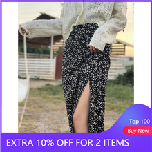 Skirts Clothing Slits-Bottom Floral Women Fashion for Mid Calf Female MX20C1904 MISHOW