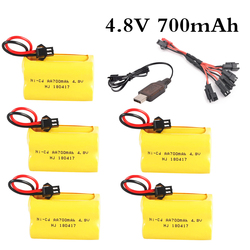 4.8v 700mah Rechargeable ni-cd aa 4.8v bateria 4.8v nicd ni cd battery pack 4.8v 700mah for RC boat model car toy