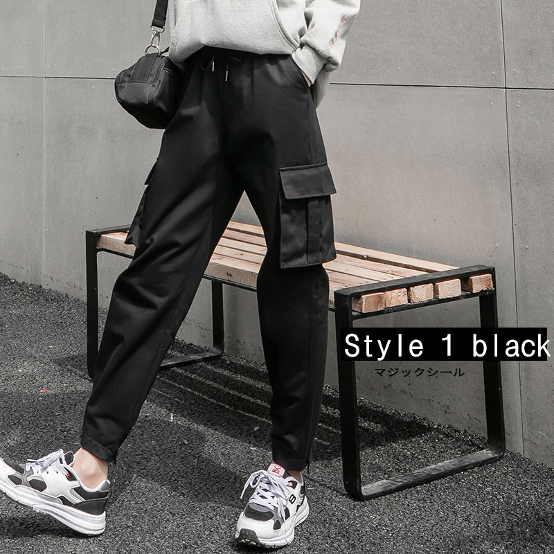2019 Cargo Pants Women High Waist Women's Pants Loose Plus Size Trousers Women   Pockets Patchwork Streetwear Women's Trousers