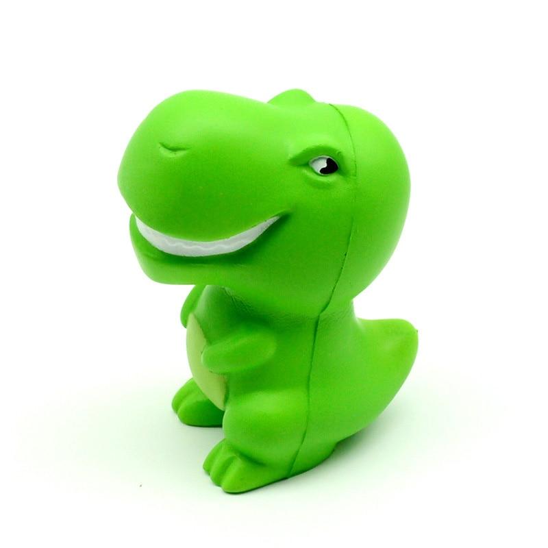 Kawaii Jumbo Green Cartoon Dinosaur Squishy Slow Rising Squeeze Toys PU Simulation Stress img1