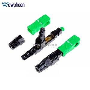 Image 3 - Kostenloser Versand SC APC Schnelle Stecker Embedded Stecker FTTH Werkzeug Kalten Faser Schnelle Stecker SC Fiber Optic Connector