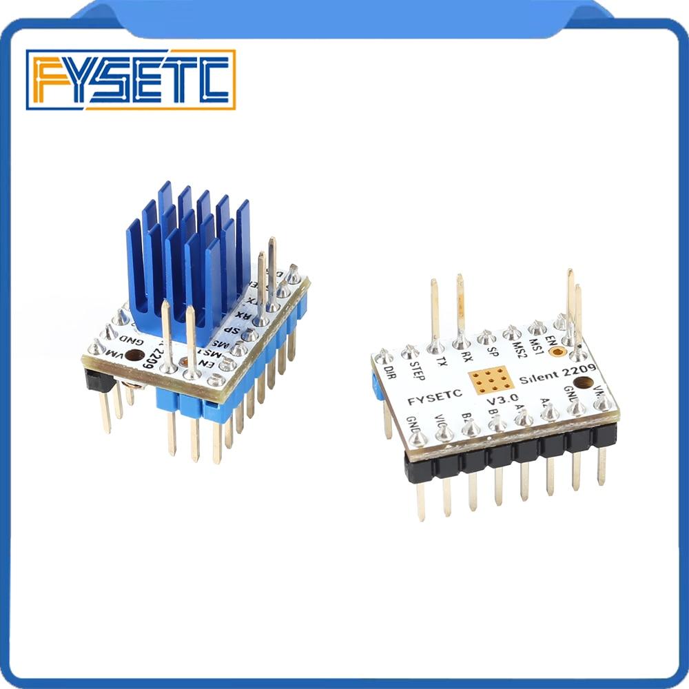 Image 5 - 4pcs TMC2209 v3.0 Stepping Motor Driver 3d Printer Parts  Stepsticks Mute Driver 256 Microsteps Current 2.8A Peak VS TMC22083D  Printer Parts