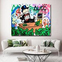 Graffiti para Alec Monopolyingly posteri boyama tuval yatak odası duvar sanatı dekorasyon resimleri ev çocuk odası dekor