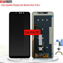 купить 6.26Original Display For Xiaomi Redmi Note 6 Pro LCD Display with Frame 10-Touch Screen Digitizer LCD Replacement Repair Part дешево