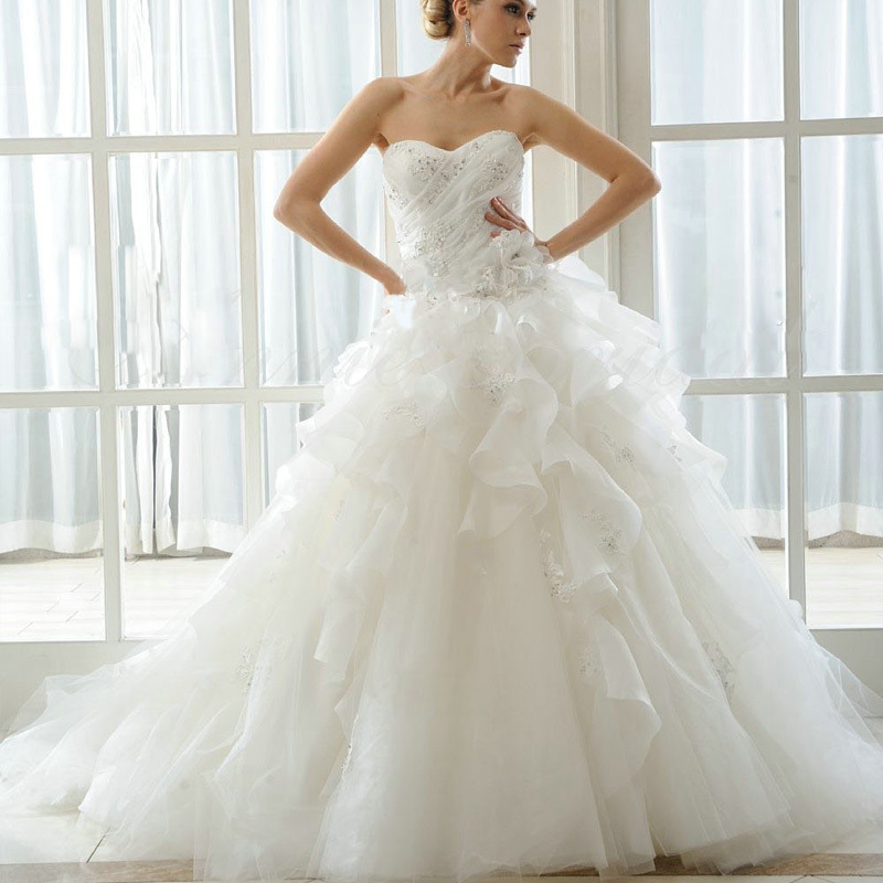 Ball Gown Sweetheart 2016 Vintage Wedding Dress Bride Casamento New Arrival Vestido De Noiva Handmade Beading Free Shipping