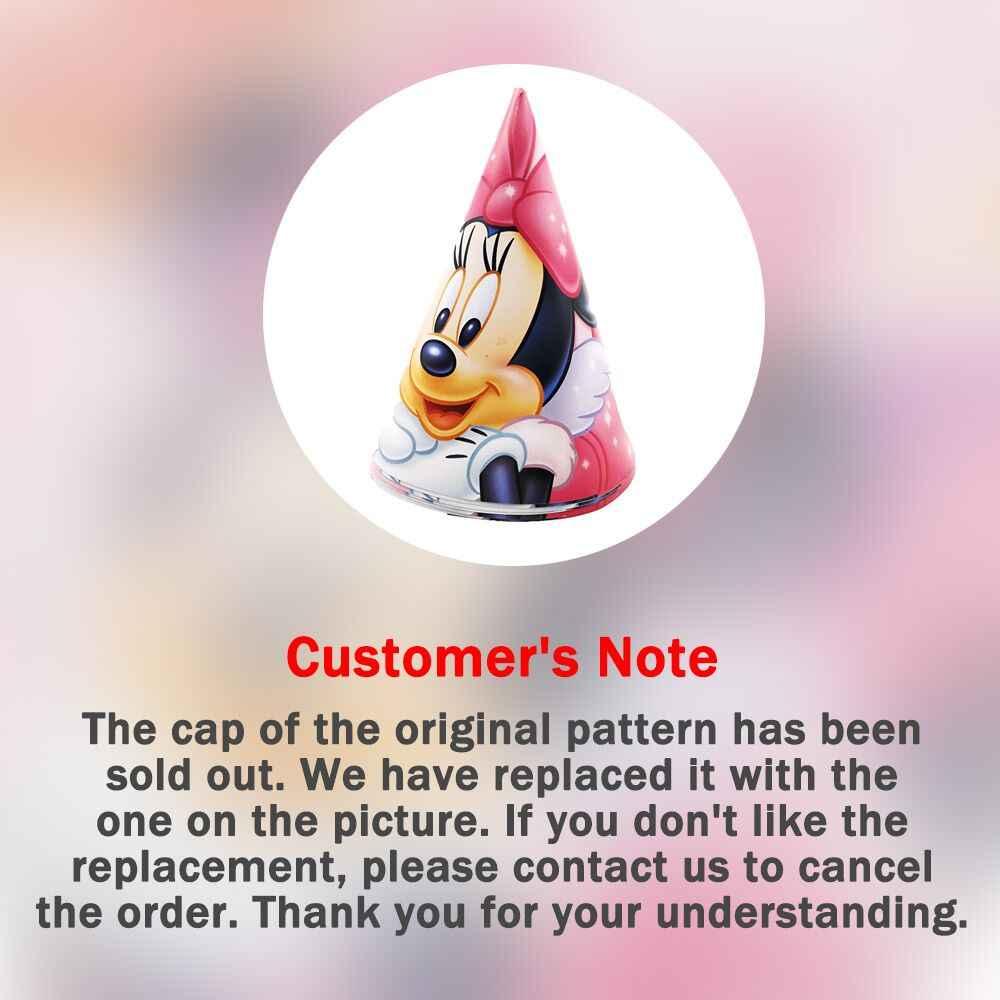 Suministros de decoración para fiesta de cumpleaños de Minnie Mouse para niños vaso, plato y banderín, Juego de bolsas, favorece la decoración de pasteles, rosa, rojo, Minnie Mouse
