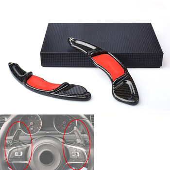 Carbon Steering Wheel Shift Paddle Extension Shifters Replacement For Volkswagen VW GOLF 7 Golf7 2015- GTI R MK7 Scirocco