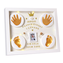 Baby Care Non-Toxic Baby Handprint Footprint Imprint Kit Safe Souvenirs Casting Newborn Footprint Ink Pad Infant Clay Toy Gifts