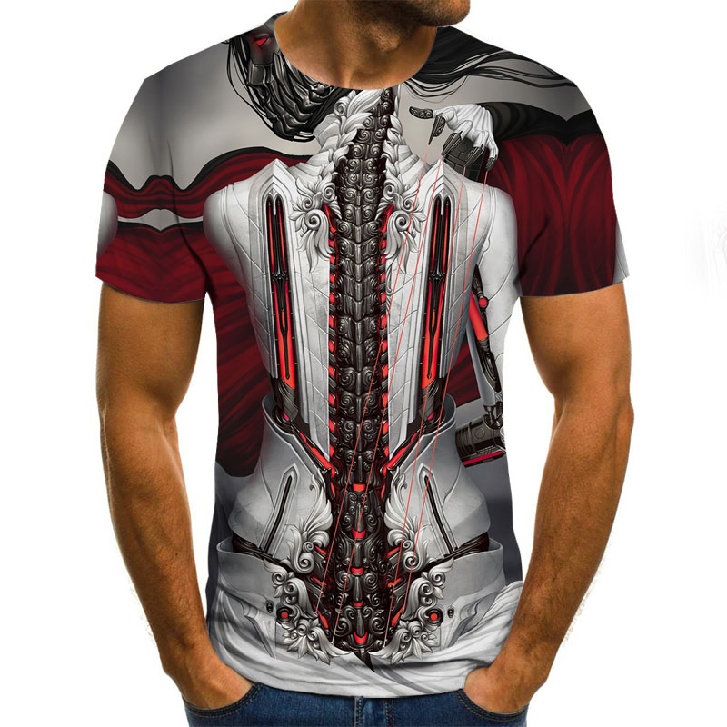 Fashion Men's Short Sleeve 3d T-shirt Shirt 3d T-shirt Men's Fun T-shirt Men's Casual Hip Hop Fitness  T-shirt
