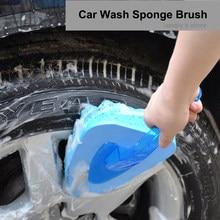 Car Wash Brush Wave Sponge Brush Transparent Plastic Handle Thicken EAV Sponge Brush