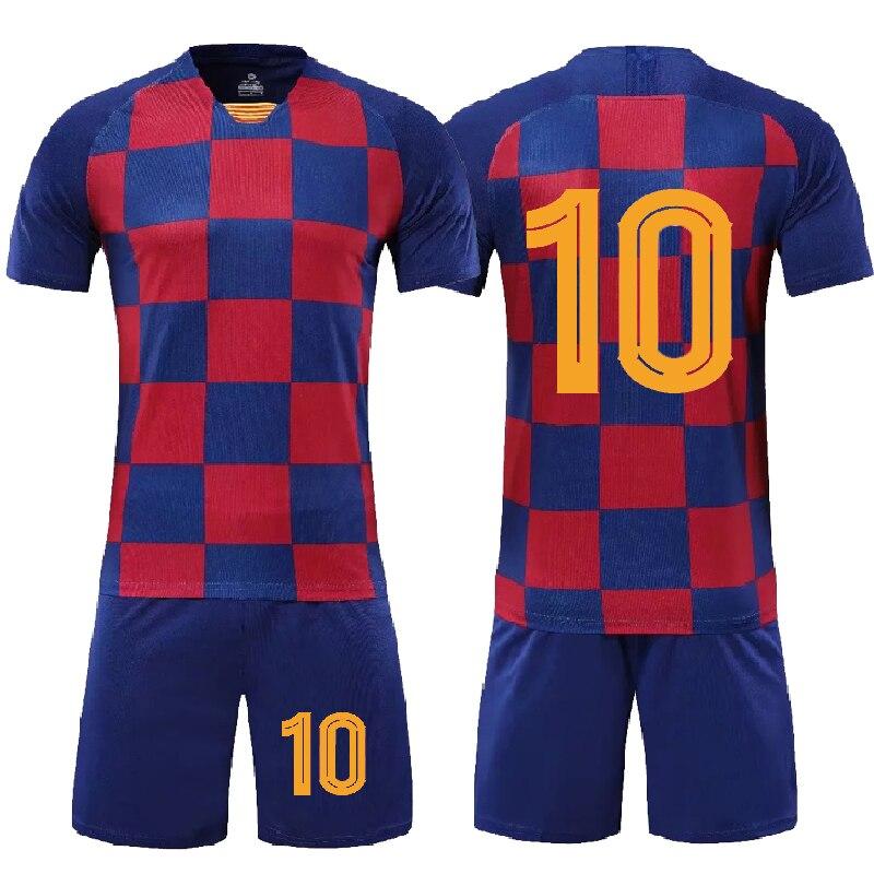 Camisetas de fútbol en blanco para hombres y niños, conjunto de camisetas de fútbol, kit de fútbol, uniformes de entrenamiento de fútbol para niños y mujeres, DIY, 2020 2021|Sets de fútbol| - AliExpress