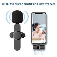 Micrófono Lavalier inalámbrico, Mini micrófono portátil para iPhone, teléfono Android, YouTube, Facebook, transmisión en vivo