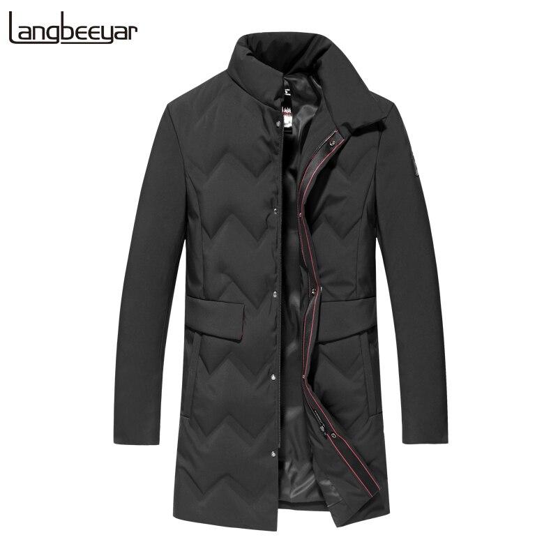 90% Duck Down Top Grade 2019 Winter Fashions Brand Down Jacket Men Long Streetwear Feather Coat Duck Down Warm Men Clothes