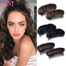 Hair-Extension Bangs-Pad High-Straight Wig False-Hair-Accessories Hair-Up Synthetic-Hair
