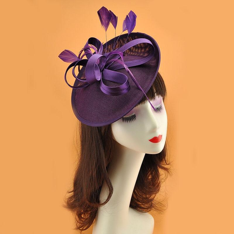 Fashion Bride Hat  Fascinators Headpiece Black/White/Red/Beige  Party Hair Accessories  Party Hat Wedding Accessories