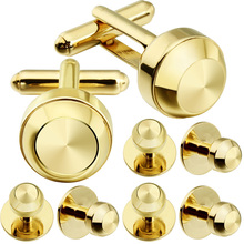 HAWSON Simple Round Ball Cufflinks Quality Brass Material Classic Dress Shirt Studs and Cuff Links Set Free Shipping
