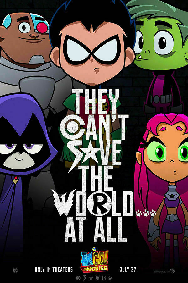 Teen Titans Go! To the Movies Hot 2 Silk Poster Wall Sticker Decoration Gift image