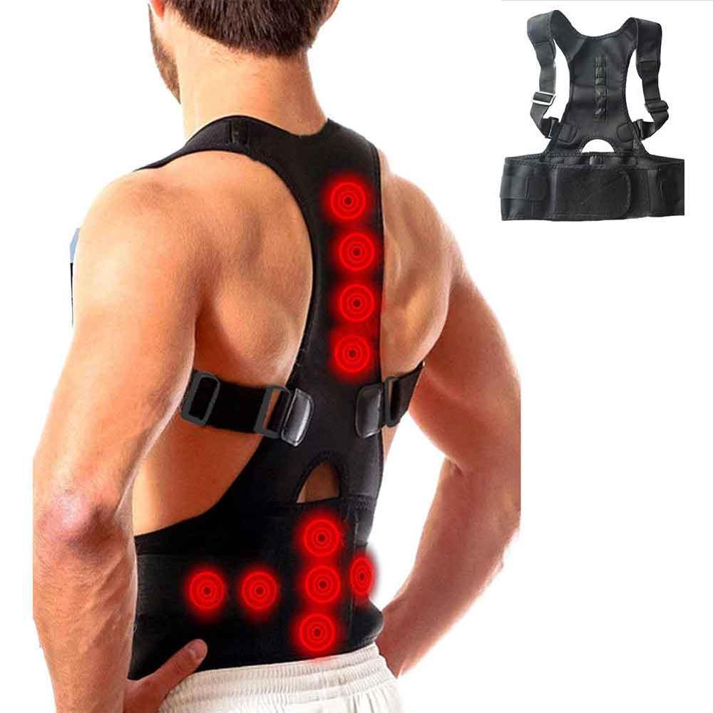 Adjustable Magnet Therapy Back Posture Corrector Clavicle Spine Back Shoulder Lumbar Brace Support Belt Posture Correction