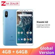 "Global Version Xiaomi A2 4GB RAM 64GB ROM โทรศัพท์มือถือ 5.99 ""18:9 หน้าจอ Snapdragon 660 Octa core 20MP + 12MP AI Dual กล้อง"
