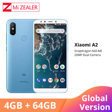 "Global Version Xiaomi A2 4GB RAM 64GB ROM Mobile Phone 5.99"" 18:9 Full Screen Snapdragon 660 Octa Core 20MP+12MP AI Dual Camera"