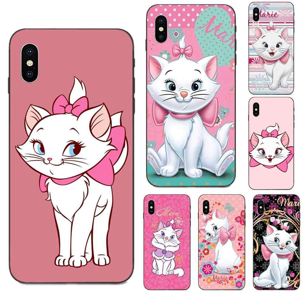 For Galaxy A8 A9 Star Note 4 8 9 10 S3 S4 S5 S6 S7 S8 S9 S10 Edge Lite Plus Pro G313 Soft Phone Capa Cute Cat Marie Aristocats