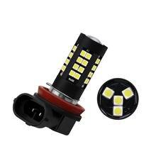 1 adet araba sis Led ampul 3030 44SMD H4 H7 H8/H11 9005 9006 otomatik sis lambası yüksek güç 44W süper parlak beyaz mavi kırmızı sarı 12V