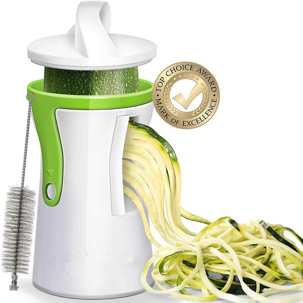 Сверхмощный Спиральный овощерезка LMETJMA, овощерезка спиральный измельчитель нож Zucchini, макаронная лапша, устройство для изготовления спагет...