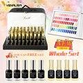 Venalisa 12 Ml Gel Kleuren Nagellak Set Inclusief Base/Top Gel/Kleur Boek/Bag Nail Art manicure Gel Nagellak Gift Kit
