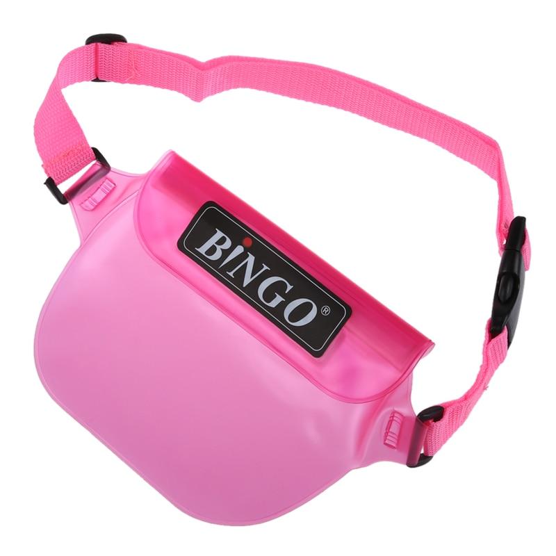 Bingo Waterproof Bag Swimming Rafting Waist Packs For Phone Wallet Purse Compact Camera(pink)