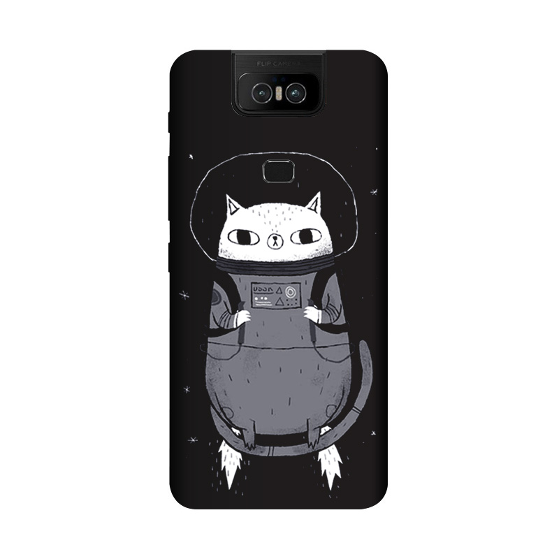 Soft TPU 6.4Inch For Asus Zenfone 6 ZS630KL Case Cover Matte Painting For Asus Zenfone 6 2019 Cases Cute Cat Coque