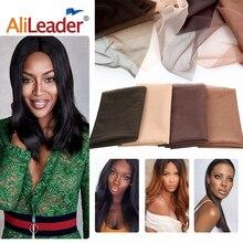 Alileader швейцарский кружевной узор сетка для изготовления парика-накладка Топ Закрытие основа аксессуары для волос мононити 1 шт./лот