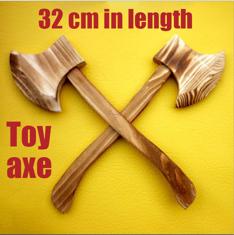 Wooden Toy Axe Halloween Cos Props Weapons Wushu Performance Equipment Gifts For Children Unopened Edge