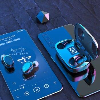 TWS 5.0 Bluetooth 6D Stereo Earphone Wireless earphones IPX7 Waterproof Earphones Sport earphones Headsets With Microphone Bass